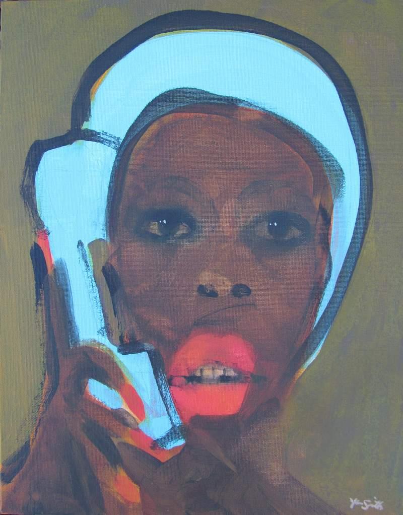 Bathing Cap and Phone #7 800